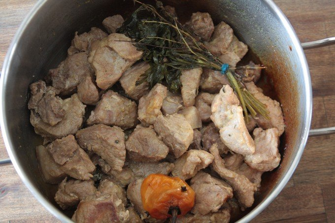 viande de griot haitien cuit