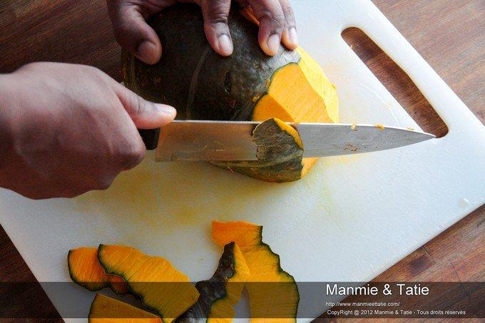 comment couper le giraumon