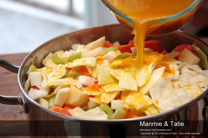 soup joumou avec légumes