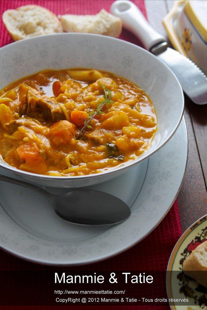 cuisine haitienne - soup joumou